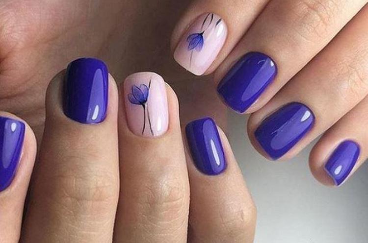 Посмотрите простые идеи дизайна ногтей.
