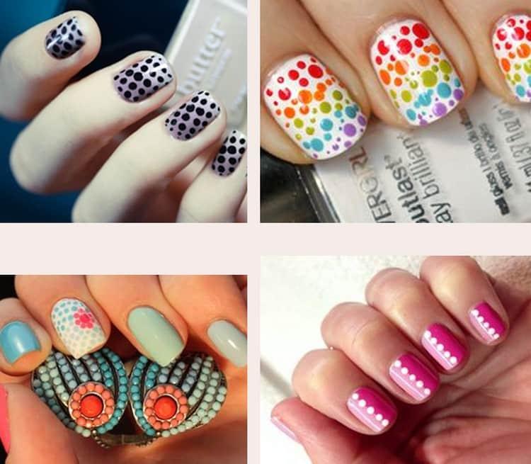 для того чтобы сделать такие точки на ногтях, понадобится дотс.