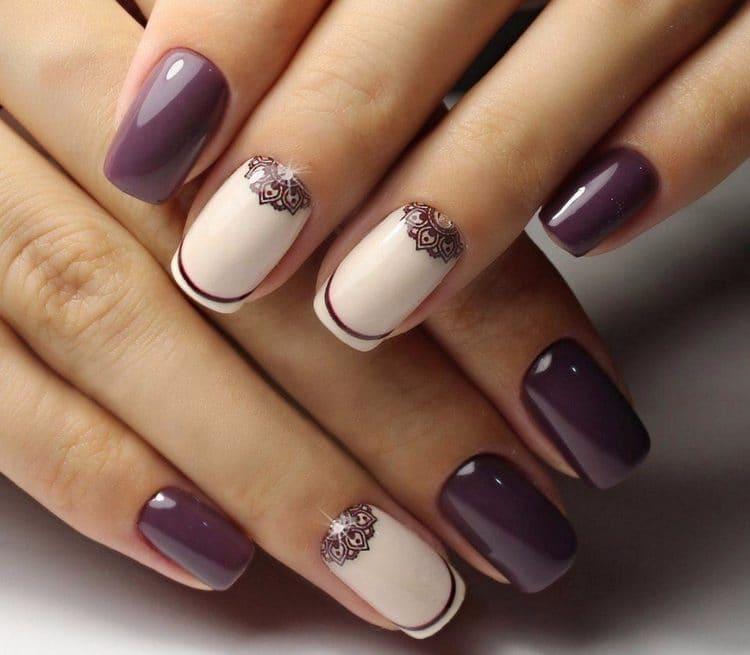 Посмотрите фото красивых ногтей с рисунком гель-лаком.