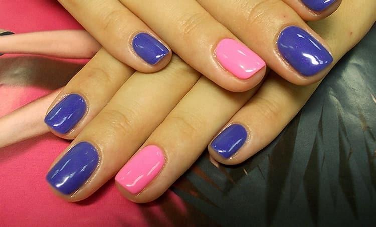 Простой вариант такого дизайна ногтей.