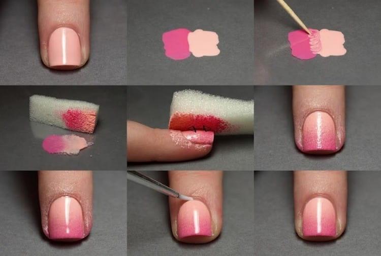 Посмотрите, как просто можно сделать розовый маникюр в домашних условиях.