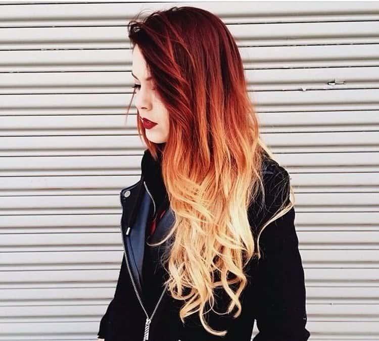 окрашивание омбре на рыжие волосы стало очень модным.