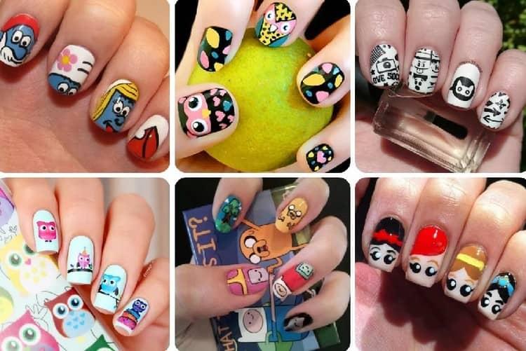 Есть много различных слайдеров для детского дизайна ногтей.