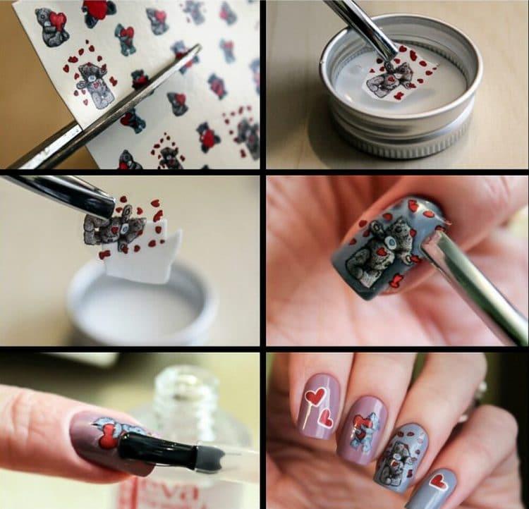 Посмотрите, как клеить на ногти слайдер-дизайн.