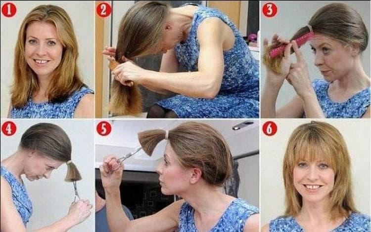 А вот самый простой способ сделать такую стрижку.