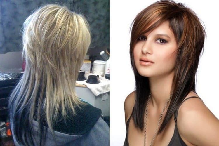 на фото стрижка двойной каскад на средние волосы.