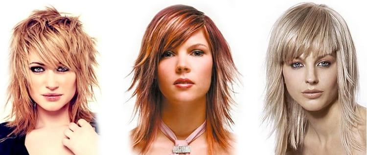 На фото можно увидеть виды стрижки каскад на волосы средней длины.