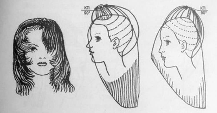 Посмотрите на фото, как сделать прическу каскад на средние волосы.