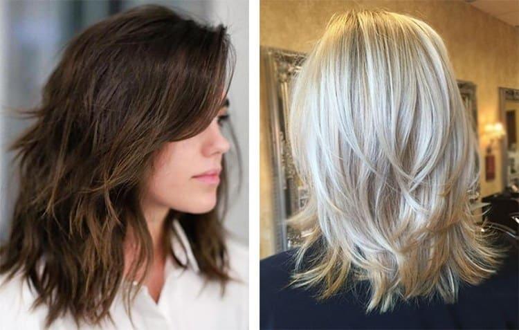 Посмотрите фото женской стрижки каскад на средние волосы.