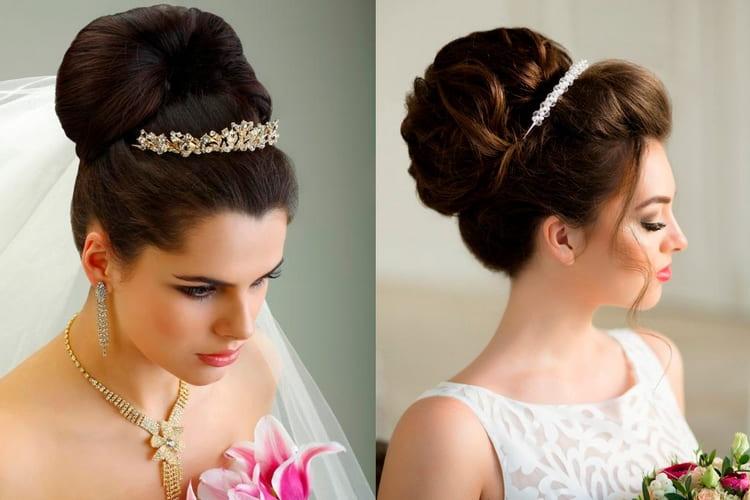 такие свадебные прически на длинные волосы с фатой это настоящая классика жанра.