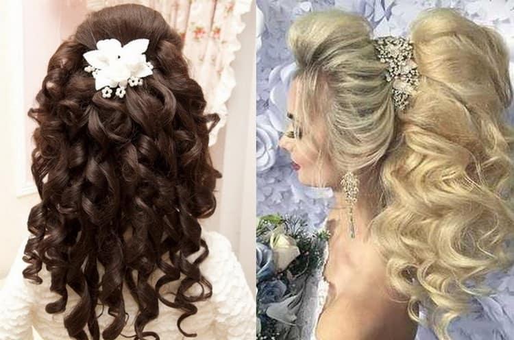 А вот оригинальная свадебная прическа на очень длинные волосы