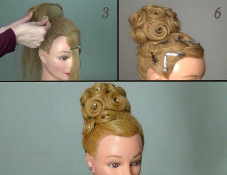 На фото вы можете увидеть, как сделать прически на свадьбу на длинные волосы.