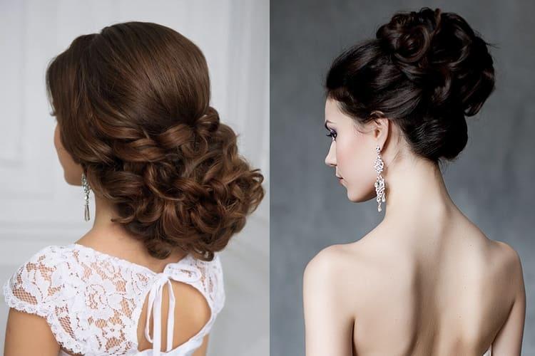 Такие свадебные прически на длинные волосы без фаты позволят похвастать тонкой шеей и плечами.