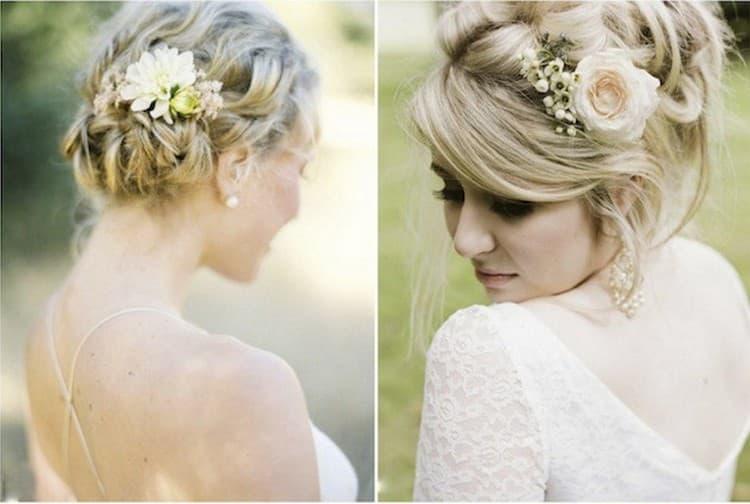 Свадебные прически с цветами на длинные волосы особенно актуальны в теплое время года.