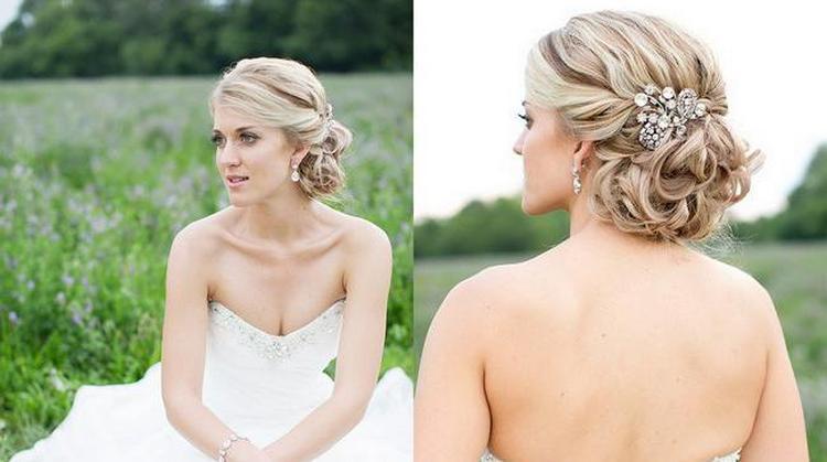 посмотрите, как сделать свадебные прически на волосы каре.