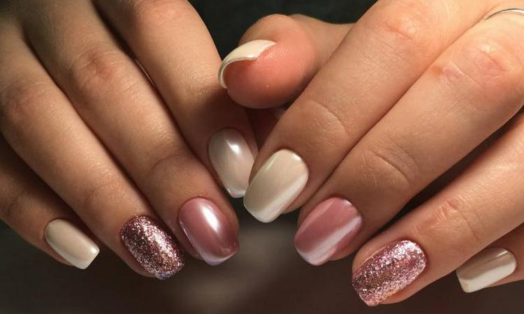 Посмотрите на фото новинки свадебного дизайна ногтей.