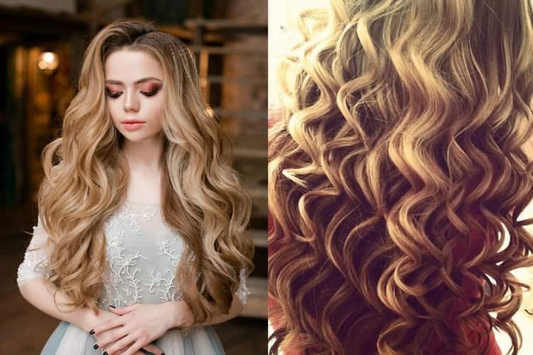 Прическа локоны на длинные волосы подойдет и для праздничного события.