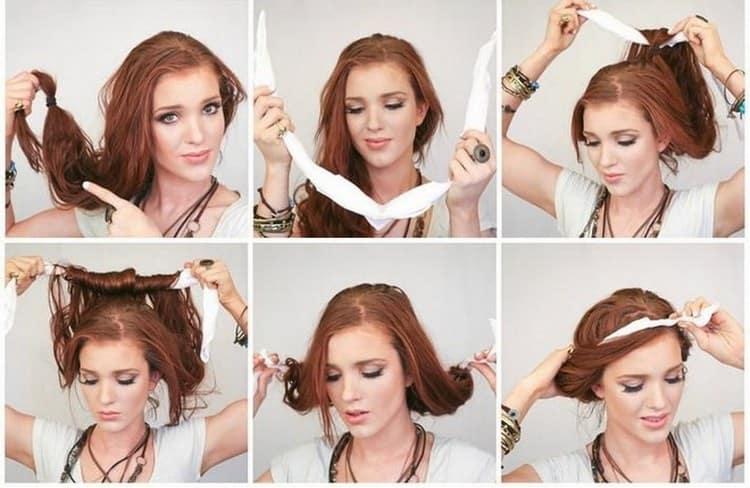 Посмотрите красивый вариант вечерней прически для девочек на длинные волосы.