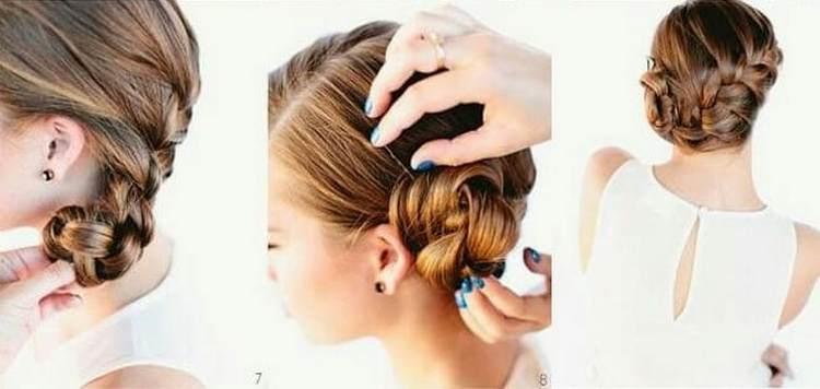 Такую прическу, как на фото, можно сделать на длинные тонкие волосы.