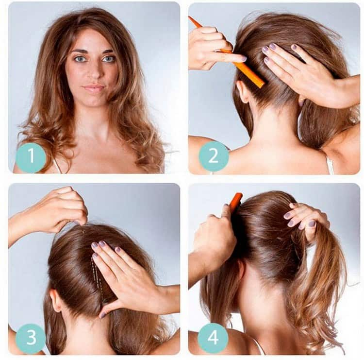 Легко можно сделать высокие вечерние прически на длинные волосы.