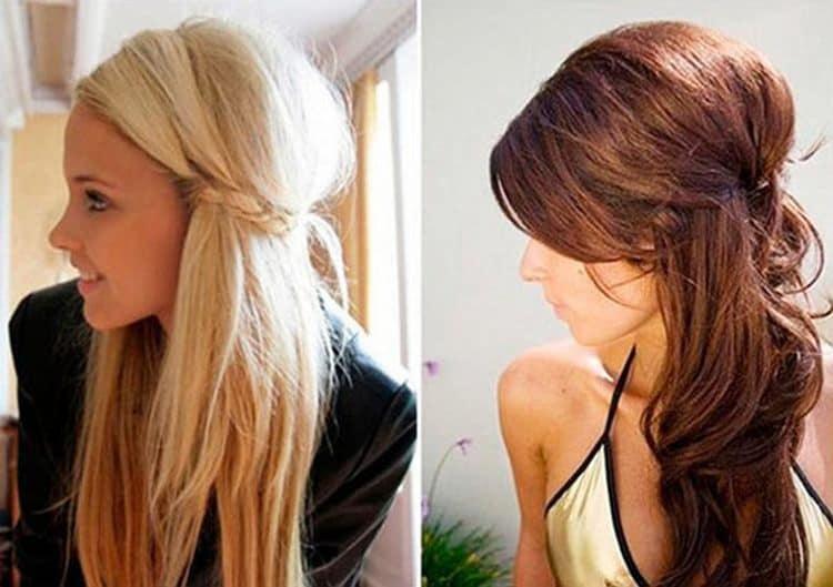 Посмотрите фото красивой вечерней прически на длинные волосы.