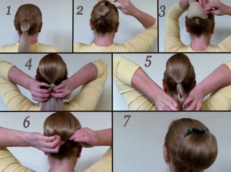 Посмотрите фото вечерних женских причесок на волосы средней длины.