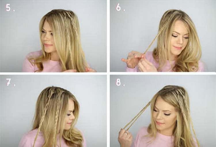 Посмотрите, как сделать такую легкую прическу на средние волосы.