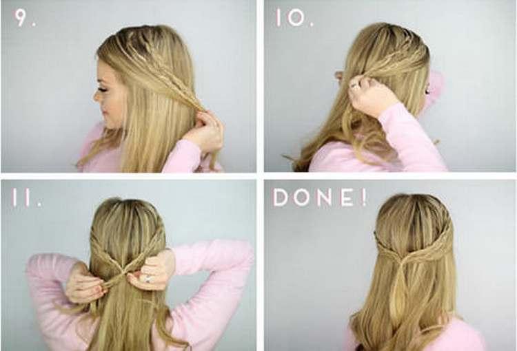 теперь вы знаете, как пошагово сделать вечерние прически на средние волосы.