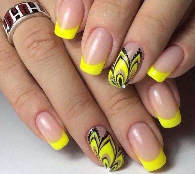 Желтый цвет тоже будет актуальным для такого дизайна.