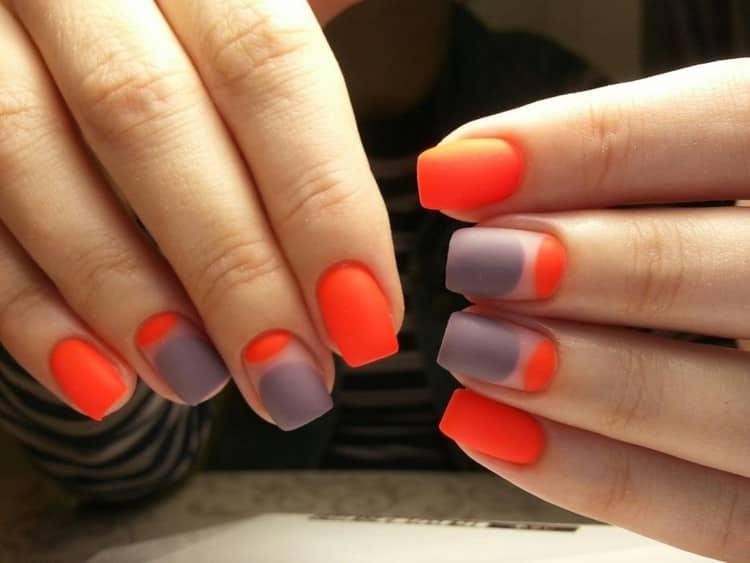 А вот еще фото дизайна ногтей в ярких тонах.