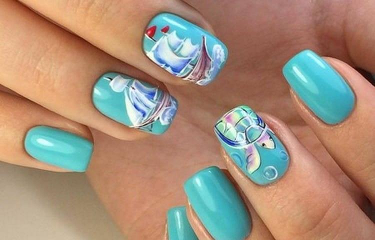 На ногтях можно нарисовать целые картины.