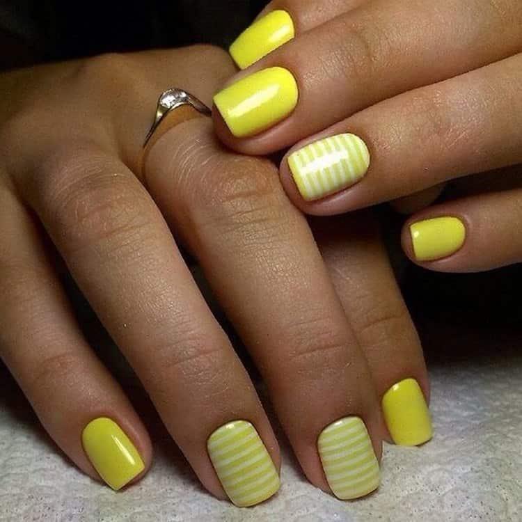 Этот дизайн ногте в желтых тонах подойдет для лета.