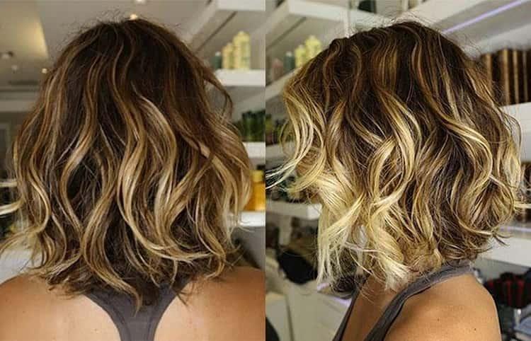 Окрашивание балаяж на короткие волосы: фото