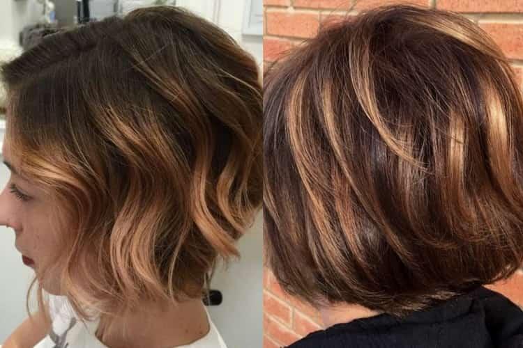 Как делается покраска балаяж на короткие волосы, фото