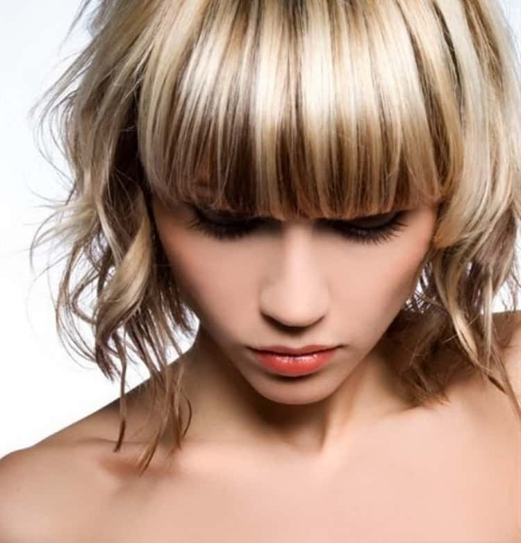 Балаяж на светлые короткие волосы, фото