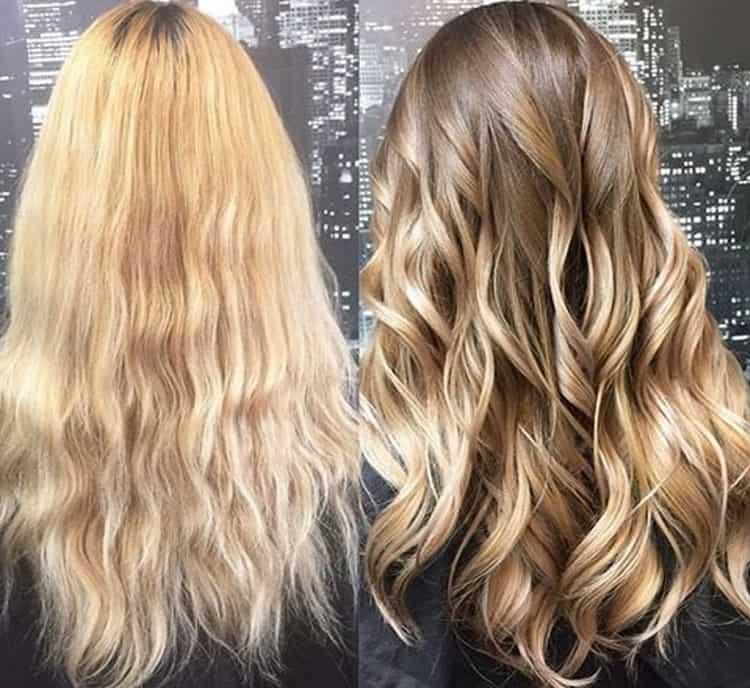 Как сделать балаяж на русые волосы