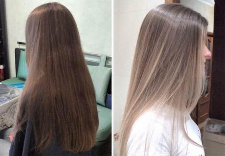 Балаяж на русые волосы: видео
