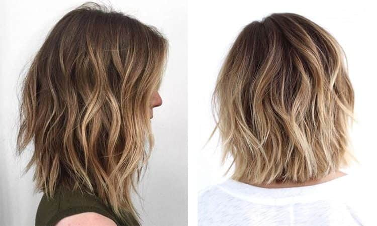 Как проходит окрашивание балаяж на русые волосы: фото