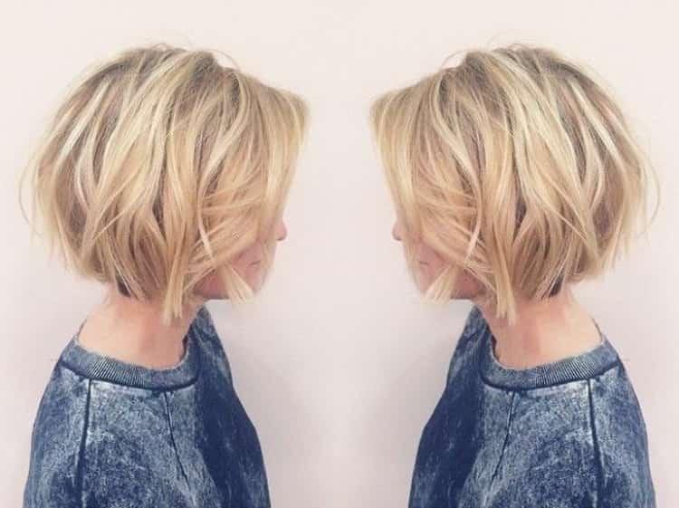 Балаяж на русые короткие волосы: фото
