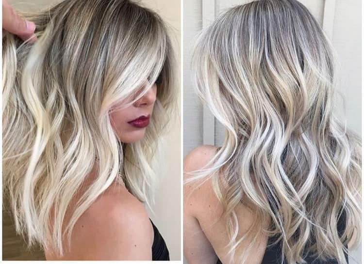 Окрашивание балаяж на светлые волосы с фото и видео
