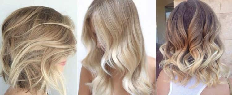 Окрашивание балаяж на светлые волосы: фото