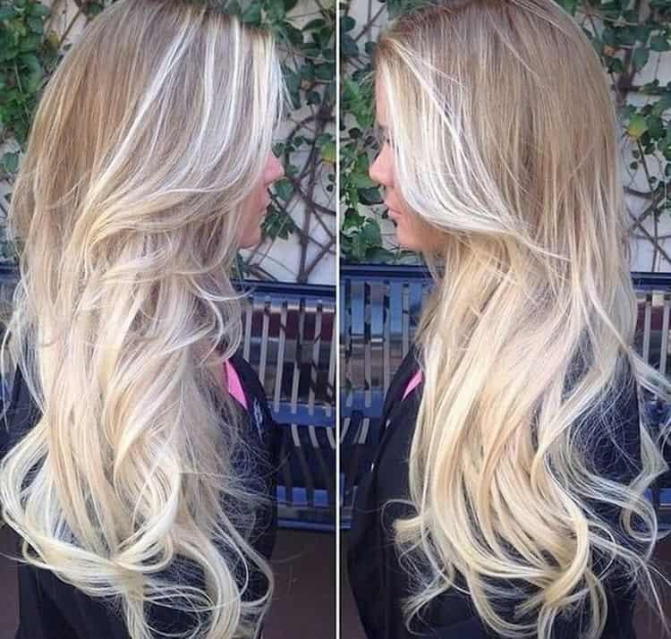 Как сделать рыжий балаяж на светлые волосы