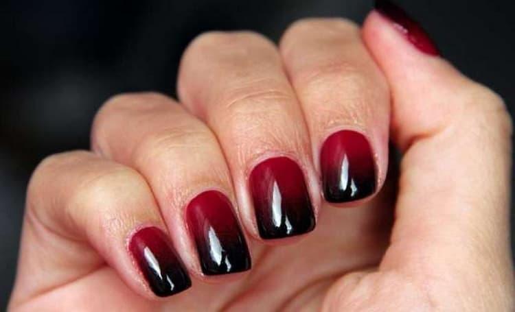 Как сделать дизайн ногтей в бордовых тонах, фото
