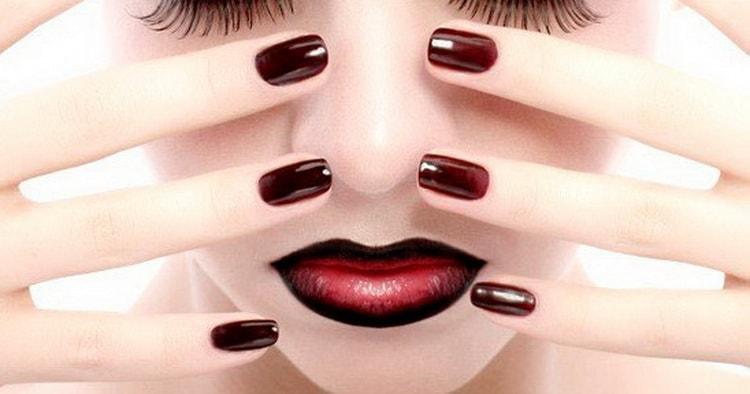 Дизайн-решения для бордовых ногтей с фото и видео