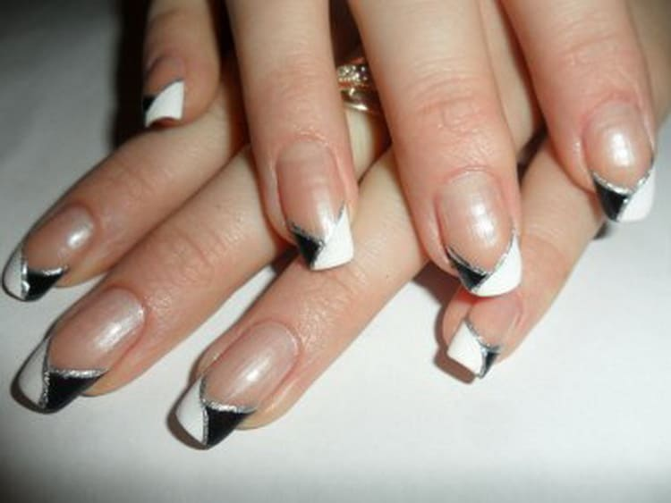 бело черный дизайн ногтей: фото шеллак