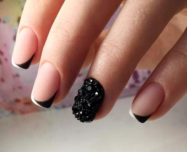 Как сделать черно белый дизайн ногтей гель лаком