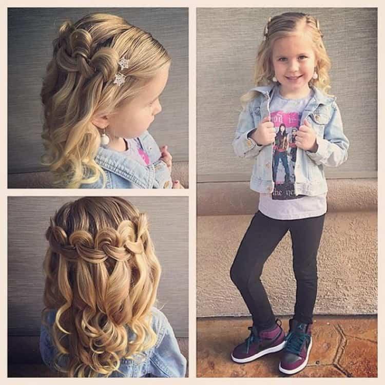 Пошаговые фото детских причесок на длинные волосы
