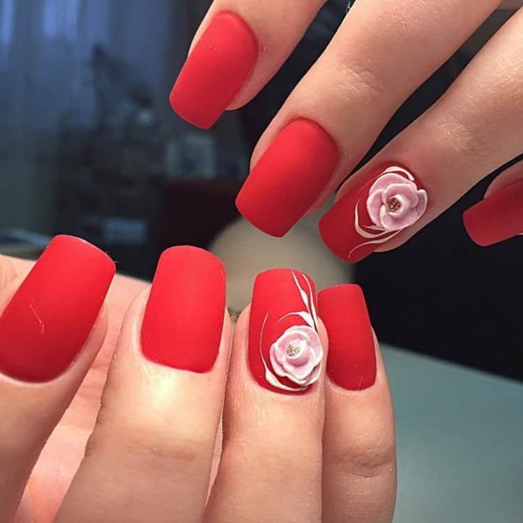 Как сделать дизайн красно черных ногтей, фото