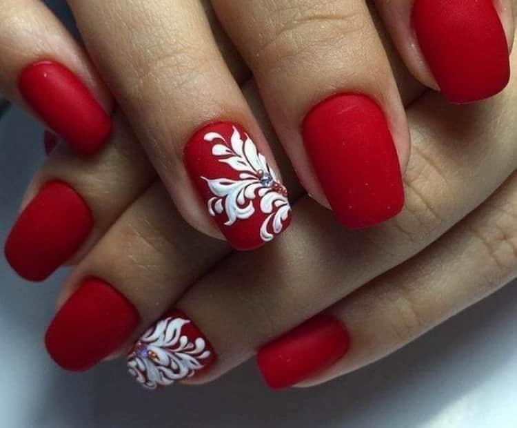 Как сделать красные матовые ногти, дизайн