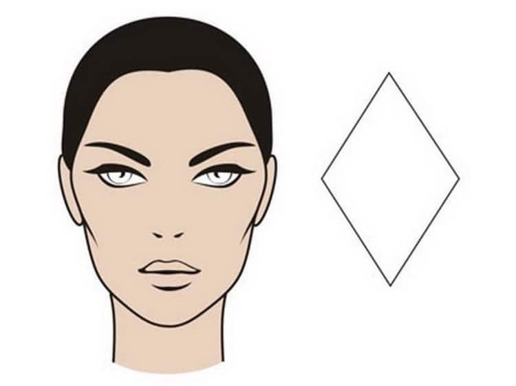 Как подобрать прическу для ромбовидной формы лица